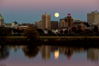 Harrisburg Skyline with Supermoon
